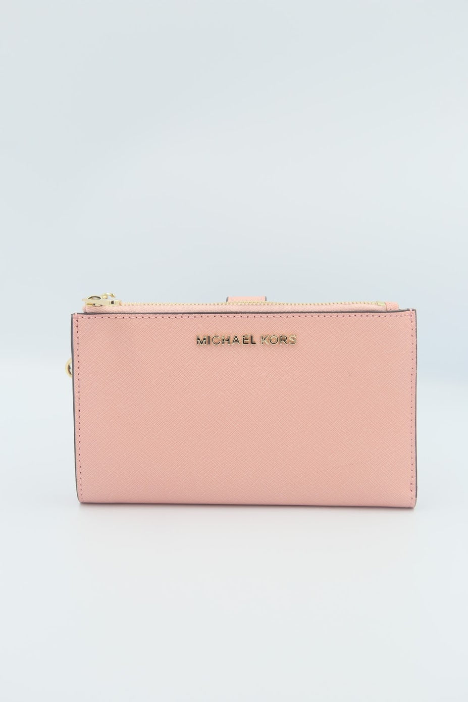 Michael Kors Jet Set Travel Double Zip Wristlet 35F8GTVW0L In Carnation