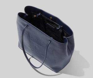 Marc Jacobs Logo Shopper M0015766 East West Tote Bag In Navy