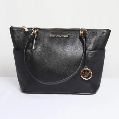 MICHAEL KORS BEDFORD LARGE EW TOP ZIP TOTE LEATHER 35F9GBFT9L IN BLACK
