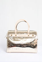 Load image into Gallery viewer, Michael Kors Kara Duffle Satchel 35H9GKKU3Z In Pale Gold