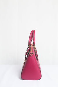 MICHAEL KORS CIARA MEDIUM MESSENGER LEATHER 35S8GC6M2L IN MAGENTA