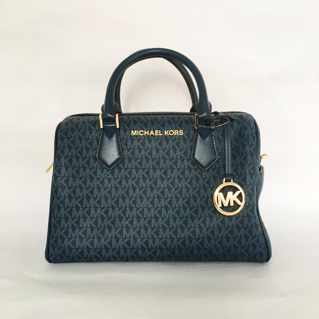 Michael Kors Bedford Large Duffle Satchel NS (Admiral Blue)