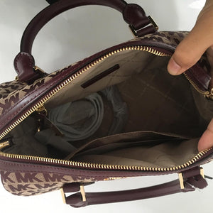 Michael Kors Bedford Large Duffle Satchel NS (Oxblood)