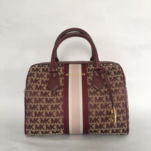 Load image into Gallery viewer, Michael Kors Bedford Large Duffle Satchel NS (Oxblood)