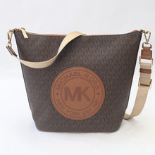 Load image into Gallery viewer, Michael Kors Fulton Sport Large Zip Bucket Messenger (Brown)