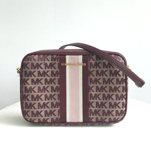 Michael Kors Jet Set Item Large EW Crossbody (Oxblood)