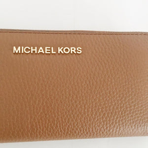 Michael Kors Jet Set Travel Large Three Quarter Zip (Luggage)
