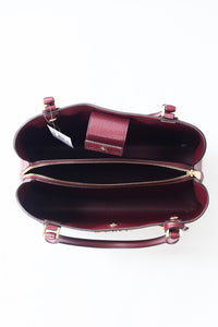 Michael Kors Kimberly Large EW Satchel 35F9GKFS7V(Merlot Multi)