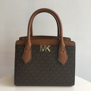 Michael Kors Montgomery Medium Messenger (Brown/Luggage)