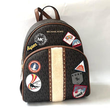 Load image into Gallery viewer, Michael Kors ASPEN Brown Multi Abbey MD Backpack