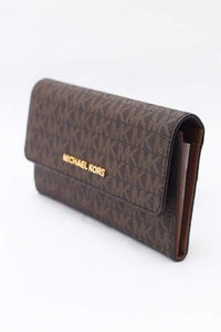 Michael Kors Jet Set Travel Large Trifold (Brown)