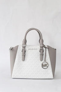 Michael Kors Md Messenger Bright White NS Ciara