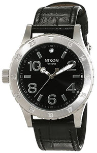 NIXON  38-20 LEATHER BLACK GATOR Watch A4671886