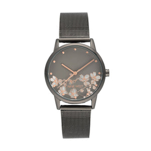 (PREORDER) Nine West Floral Mesh Bracelet WATCH NW-2429FLGY