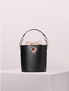 Kate Spade Small Suzy PXRUA406 Bucket Bag In Black