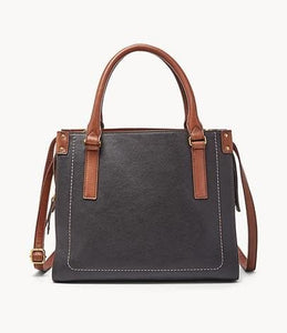 Fossil Claire Satchel In Black