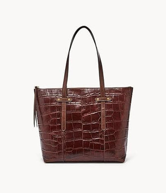 Fossil Felicity SHB1989204 Tote Bag In Brown Coco