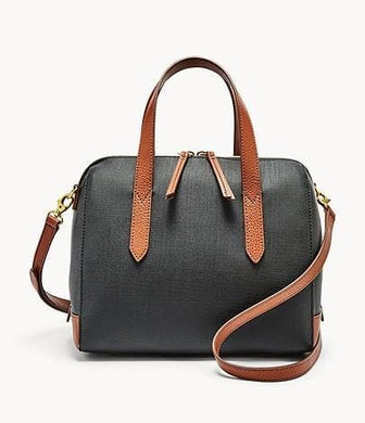 Fossil Sydney Satchel In Black Multi