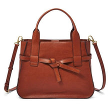 Load image into Gallery viewer, Fossil Willow Satchel Brandy