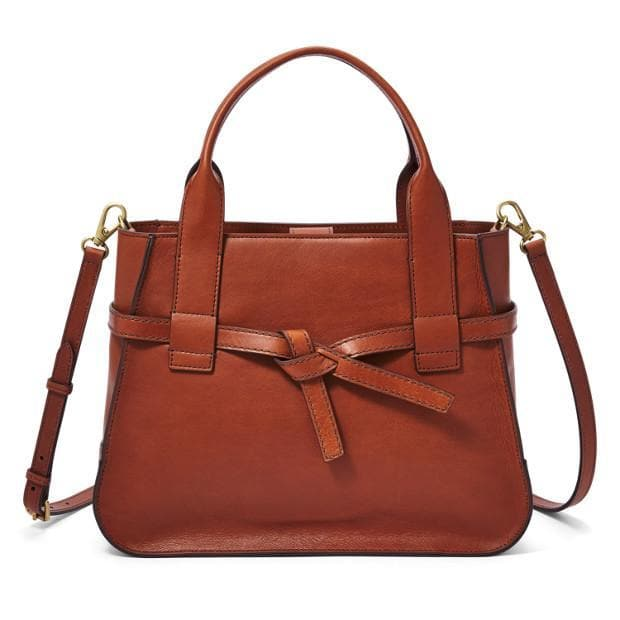 Fossil Willow Satchel Brandy