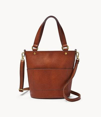 Fossil Amelia Small Bucket In Brandy