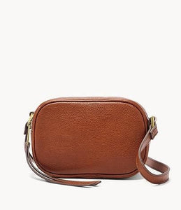 Fossil Maisie Small Camera Crossbody Bag In Brandy