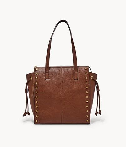 Fossil Brooklyn SHB2671213 Shopper Bag In Brandy