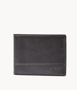 Fossil Brooks Flip ID SML1511001 Bifold Wallet In Black