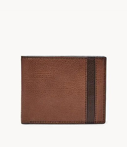 Fossil Ennis RFID SML1578200 Traveler Wallet In Brown