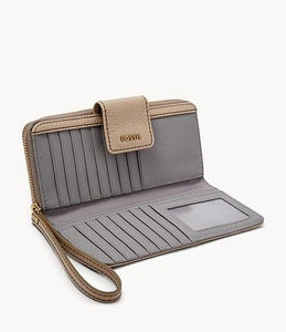 Fossil Madison SWL1575271 Zip Clutch Wallet In Taupe
