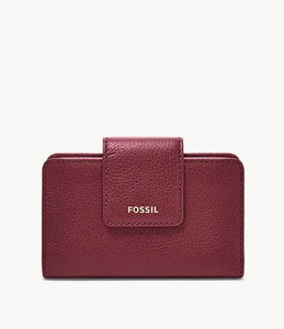 Fossil Madison SWL2230599 Multifunction Wallet In Claret Red