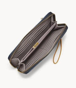Fossil Jori Zip Clutch in Twilight