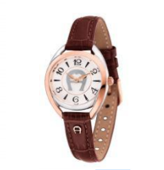 (PREORDER) Aigner Interlocked Ladies Leather Strap Watch A120201