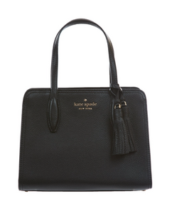 Kate Spade Small Rowe WKRU6704 Top Zip Satchel Bag In Black