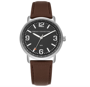 (PREORDER) French Connection Mens Analogue Classic Quartz Watch with Leather Strap FC1312ET