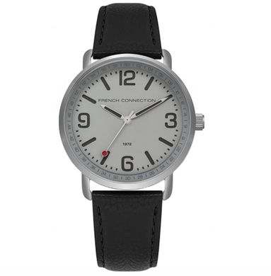 (PREORDER) French Connection Mens Analogue Classic Quartz Watch with Leather Strap FC1312B