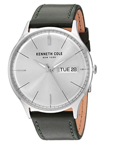 (PREORDER) Kenneth Cole New York Male Stainless Steel Quartz Watch with Leather Strap, Green, 22 (Model: KC50589014)