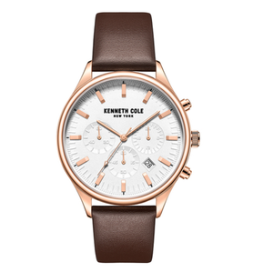 (PREORDER) Kenneth Cole New York Male Analog Quartz Watch with Leather Strap KC50784001
