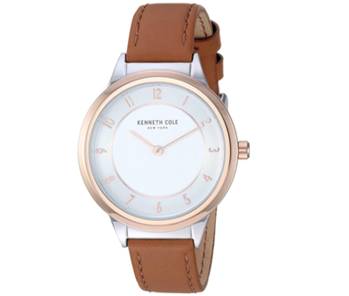 (PREORDER) Kenneth Cole New York Female Analog Quartz Watch with Leather Strap KC50795002