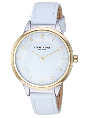 (Pre Order) Women's Kenneth Cole Classic White Leather Band Watch KC50795004