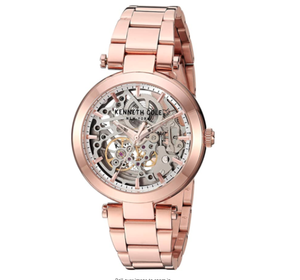 (PREORDER) Kenneth Cole New York Female Quartz Watch with Stainless Steel Strap, Rose Gold, 18 (Model: KC50799002)