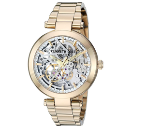 (PREORDER) Kenneth Cole New York Female Quartz Watch with Stainless Steel Strap, Gold, 18 (Model: KC50799003)