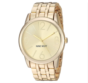 (PREORDER) Nine West Champagne Dial Gold-Tone Bracelet Watch NW-1578CHGB