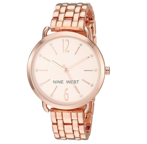 (PREORDER) Nine West Women's Crystal Accented Bracelet Watch NW-2150RGRG
