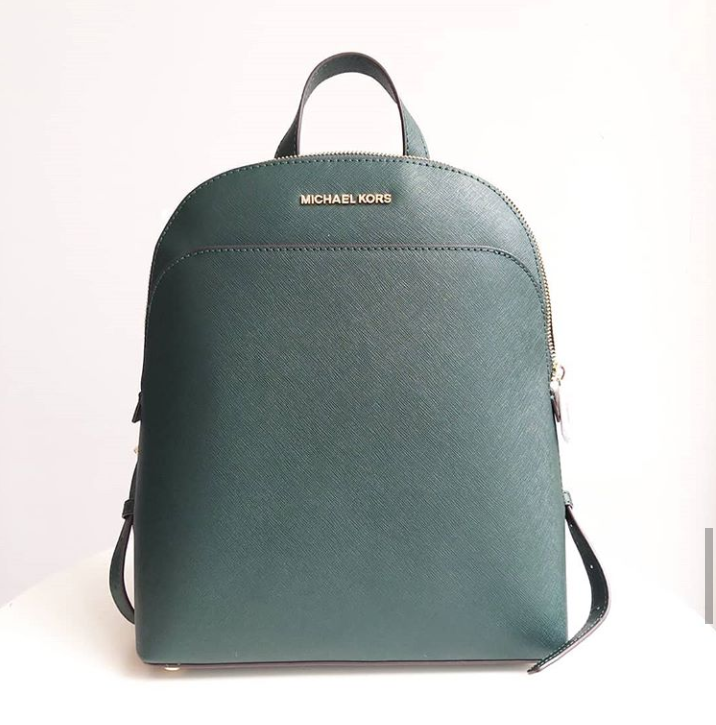 Michael Kors Large Emmy Racing Green Backpack
