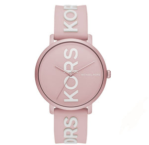 Michael Kors Charley With Logo MK4536 In Pale Pink Silicone Strap