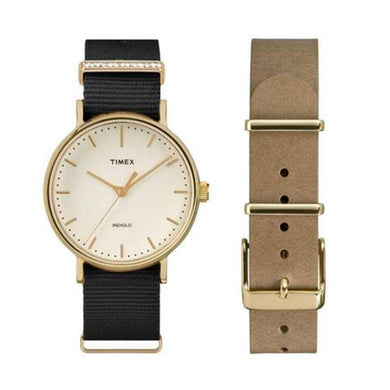 Timex Fairfield Crystal TW2P98400SET Double Strap Watch