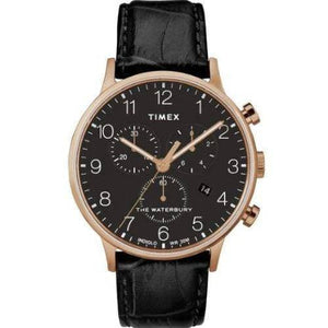 (PREORDER) TIMEX WATERBURY CLASSIC Chrono Rose Gold Tone Case and LEATHER STRAP WATCH TW2R72000
