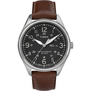 (PREORDER) TIMEX WATERBURY TRADITIONAL DAY DATE BROWN STRAP WATCH TW2R89000