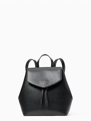 Kate Spade Medium Lizzie WKR00345 Flap Backpack In Black